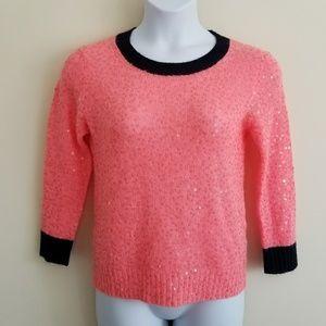 J. Crew Medium Acrylic Mohair Wool Sequin Sweater